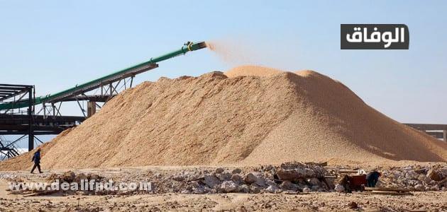 كمية الرمل في المتر المكعب